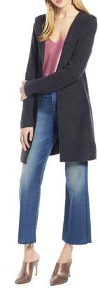 Halogen Hooded Wool & Cashmere Cardigan