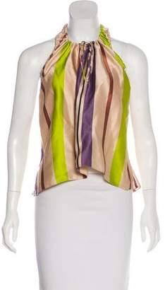 Marni Silk Halter Top