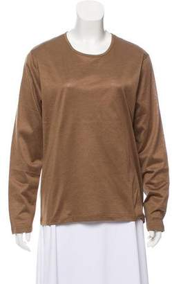 Hermes Long Sleeve Crew Neck Top