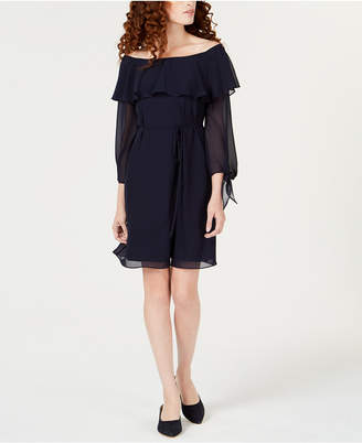 Maison Jules Ruffled Off-The-Shoulder Dress, Created for Macy's
