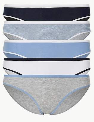 M S Collection 5 Pack Cotton Rich Bikini Knickers 842242f2f