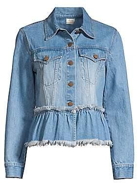 Alice + Olivia Jeans Jeans Women's Flounce Hem Denim Jacket