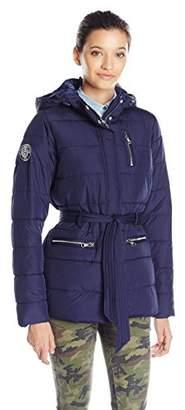 U.S. Polo Assn. Women's Long Puffer Jacket With Belt