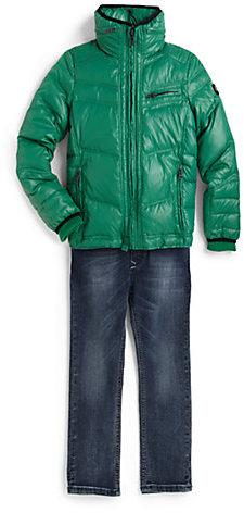 Diesel Little Boy's Nylon Down Puffer Jacket