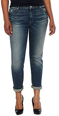 JCPenney a.n.a® Roll-Cuff Skinny Jeans - Plus