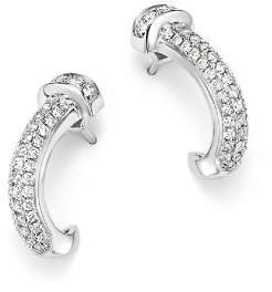 Bloomingdale's Pavé Diamond Curved Nail Earrings in 14K White Gold, 0.60 ct. t.w. - 100% Exclusive