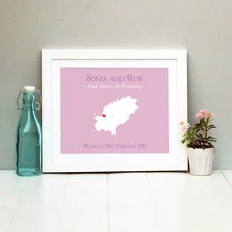 Brambler Wedding In Ibiza Personalised Print