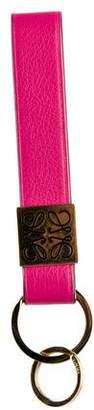 Loewe Tag Keyring Leather Keychain