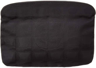 Chanel Black Nylon Cosmetic Pouch