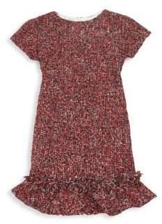 Helena and Harry Little Girl's& Girl's Short-Sleeve Tweed Dress