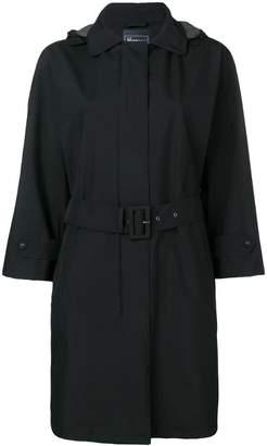 Herno hooded belted coat