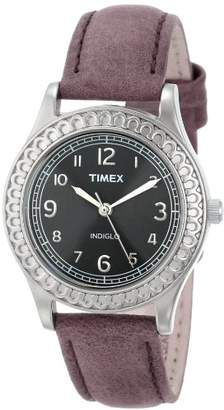 Timex Women's T2N6589J Purple Distressed Leather Strap Watch $44.95 thestylecure.com
