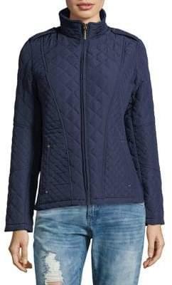 Weatherproof Quilt Moto Jacket
