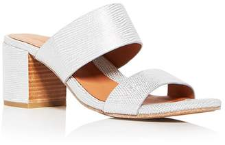 Kenneth Cole Gentle Souls Women's Cherie Snake Embossed Leather Block Heel Slide Sandals - 100% Exclusive