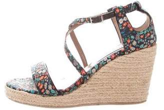 Tabitha Simmons Floral Espadrille Wedges