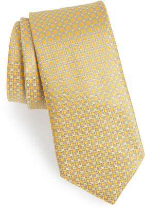 Canali Neat Geometric Silk Tie