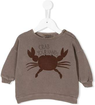 Bobo Choses Crab Your Hands sweatshirt