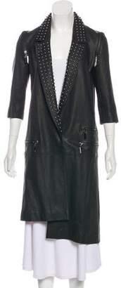 Thomas Wylde Leather Embellished Coat