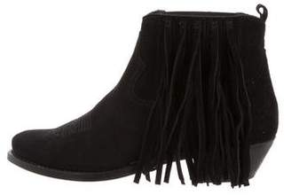 Golden Goose Fringe Pointed-Toe Booties w/ Tags
