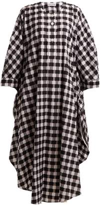 Sonia Rykiel Gingham fil-coupé cotton long dress