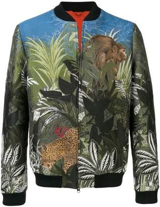 Etro jungle jacquard bomber jacket
