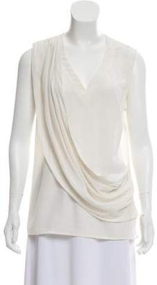 Nicole Miller Silk Sleeveless Blouse