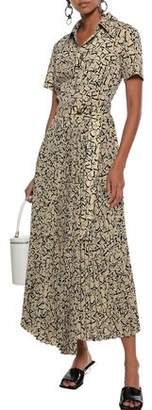 GOEN.J Wrap-effect Printed Crepe De Chine Maxi Shirt Dress
