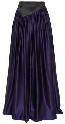 Lanvin Paneled Gathered Silk-satin Maxi Skirt