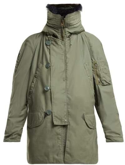 Myar - Us Army Vintage Cotton Blend Parka - Womens - Grey