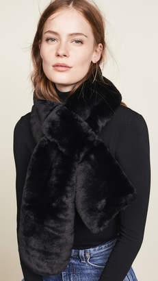 Hat Attack Faux Fur Pull Thru Scarf