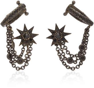 Black Diamond Colette Jewelry 18K Oxidized Gold and Ear Cuffs