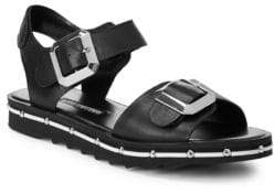 Charles David Spy Footbed Leather Sandals