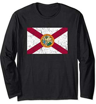 Distressed State Flag of Florida Long Sleeve T-Shirt