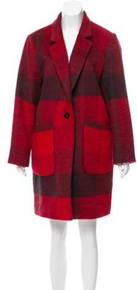 Tommy Hilfiger Plaid Knee-Length Coat
