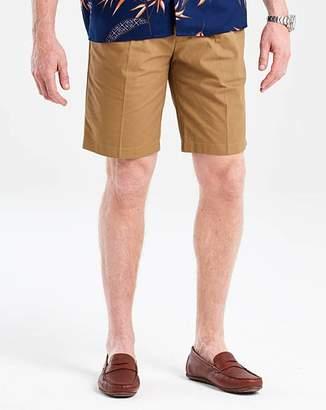 Flintoff By Jacamo Tobacco Pleat Front Chino Shorts