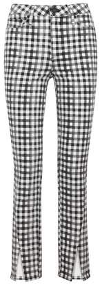 Paige Hoxton Gingham Slim-leg Jeans