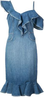 Jonathan Simkhai Classic Denim Ruffle dress