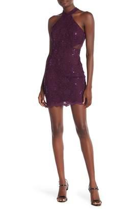Jump Short Sequin Lace Dress
