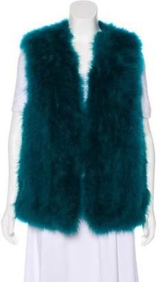 Haute Hippie Fur Open Front Vest