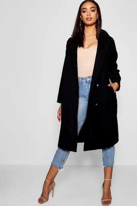 boohoo Oversized Wool Look Coat
