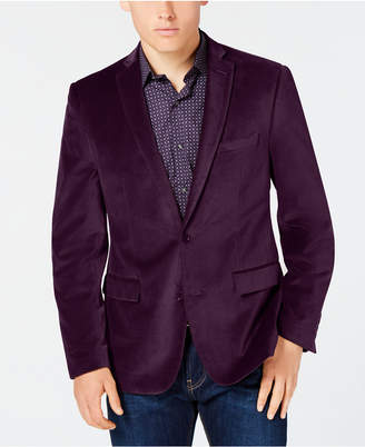 Bar III Velvet Slim-Fit Sport Coat