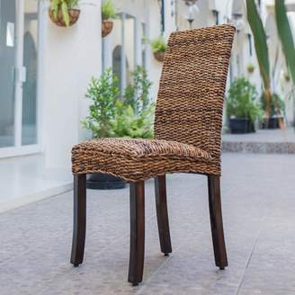 Aba'ca International Caravan Arizona Abaca Weave Dining Chair with Mahogany Hardwood Frame - Salak Brown