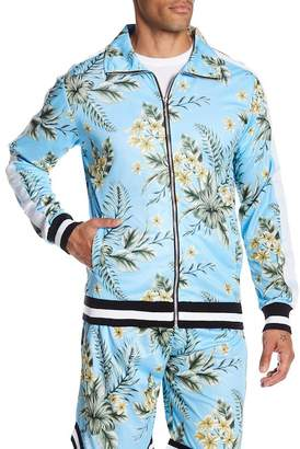 American Stitch Floral Zip Up Jacket