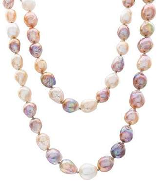 Stephen Dweck Multihued Peacock Pearl Necklace