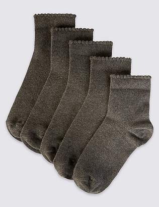 Marks and Spencer 5 Pairs of FreshfeetTM Cotton Rich Socks (3-14 Years)