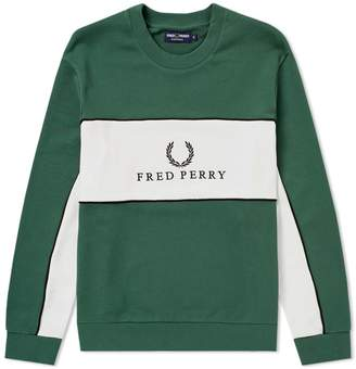 Fred Perry Authentic Panel Piped Sweat