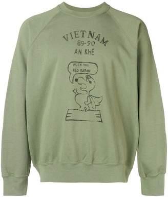 Wild Donkey snoopy character print sweatshirt