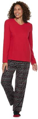Croft & Barrow Women's Fleece 3-piece Pajama Set