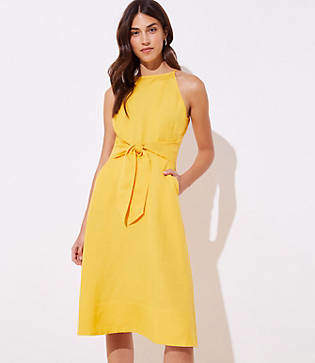 4e8f180fd3 LOFT Tie Waist Halter Dress