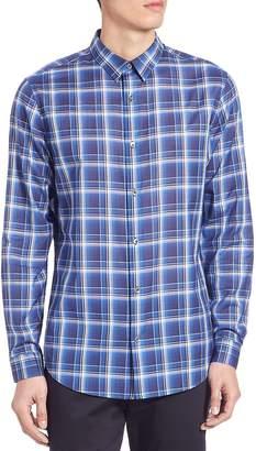 Vince Men's Yarn Dyed Manhattan Shirt